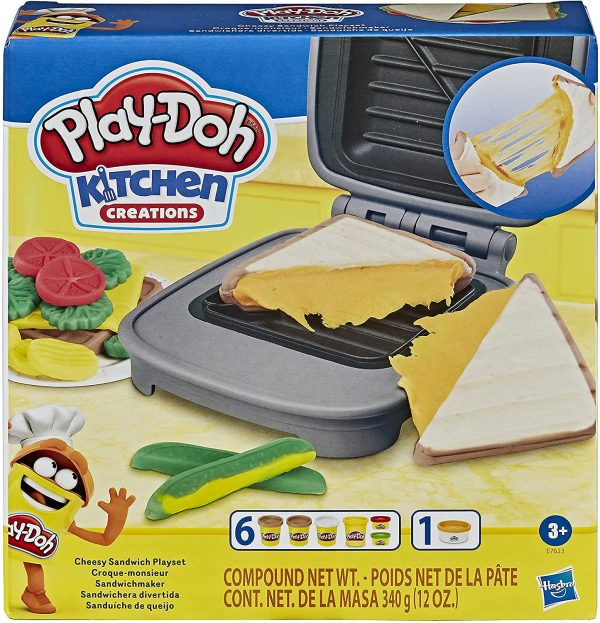 PlayDoh Grilled Cheesy Cheese Sandwich Playset Play Doh