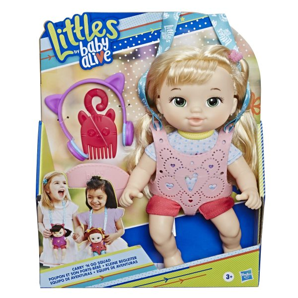 Baby Alive Carry n Go Squad Blonde Doll