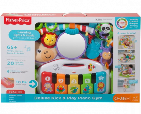 Fisher Price Deluxe Kick and Play Piano Gym (Dents/Creased Packaging)