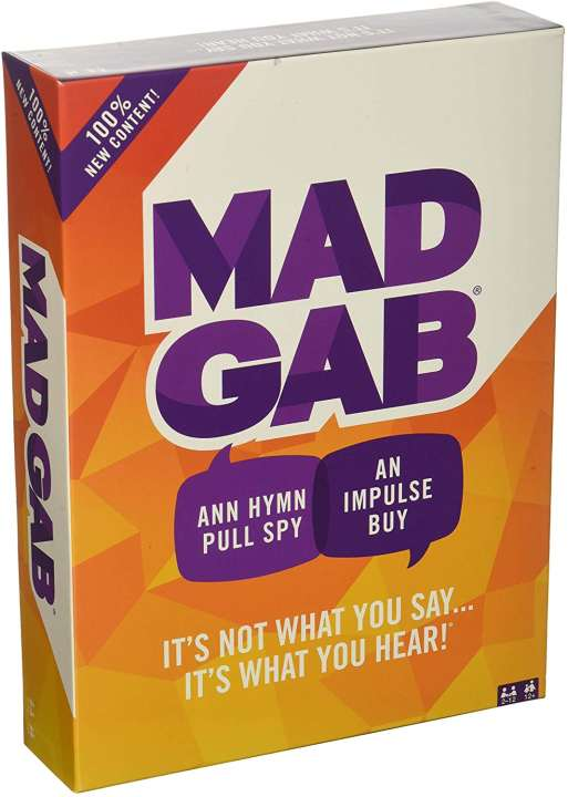 Mattel Games Mad Gab Game - It's Not What You Say..It's What You Hear!